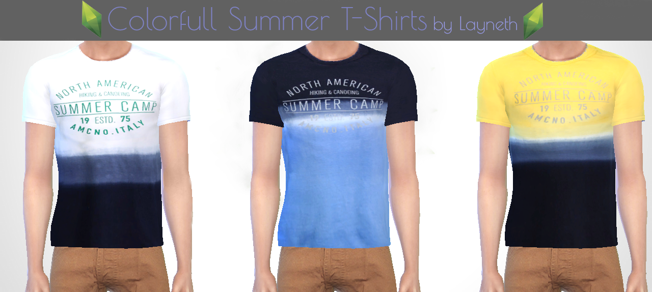 "Men's ""Colorfull Summer"" T-Shirts by Layneth"