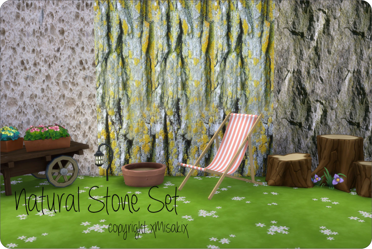 Natural Stone Wall Set by  xMisakix