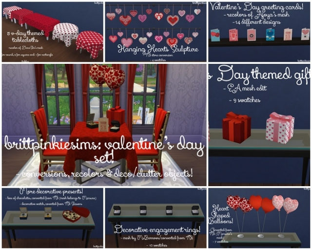 Valentines Day Set by Brittpinkiesims