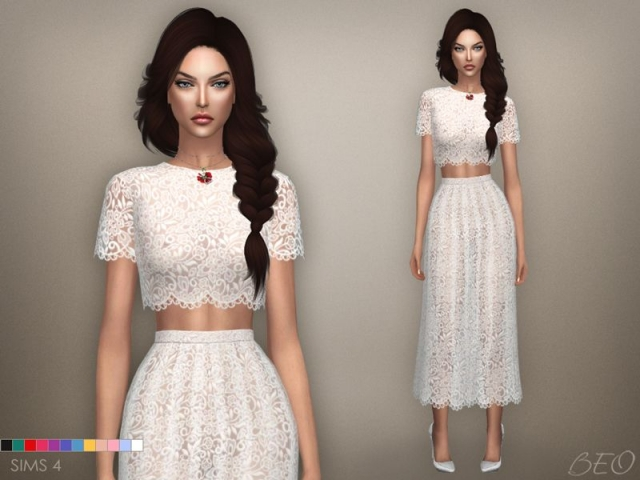 Lace midi dress 04 by Beo