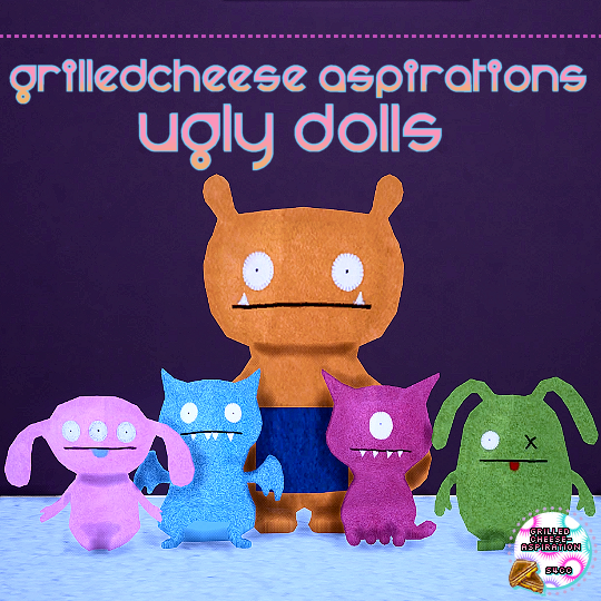3t4 Ugly Dolls by GrilledCheese-Aspiration
