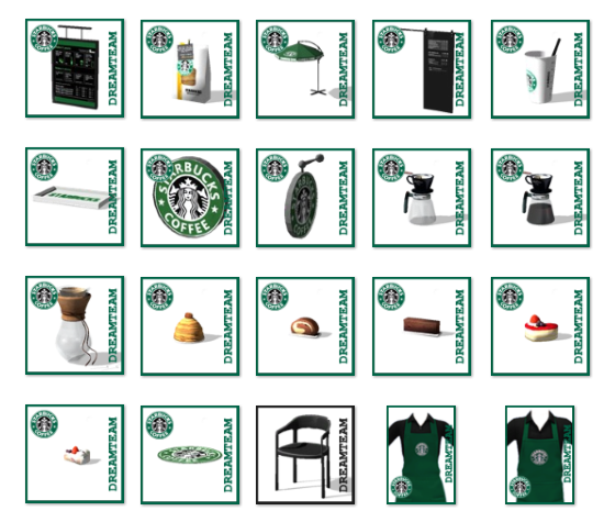 Starbucks Coffee Shop Set by DreamTeamSims