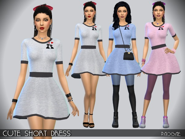 Cute Short Dress by Paogae