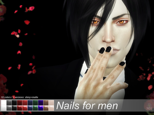 Nails for men N01 by Pralinesims