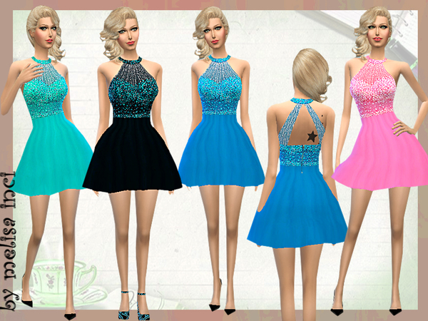 Short Embellished Dress by melisa inci