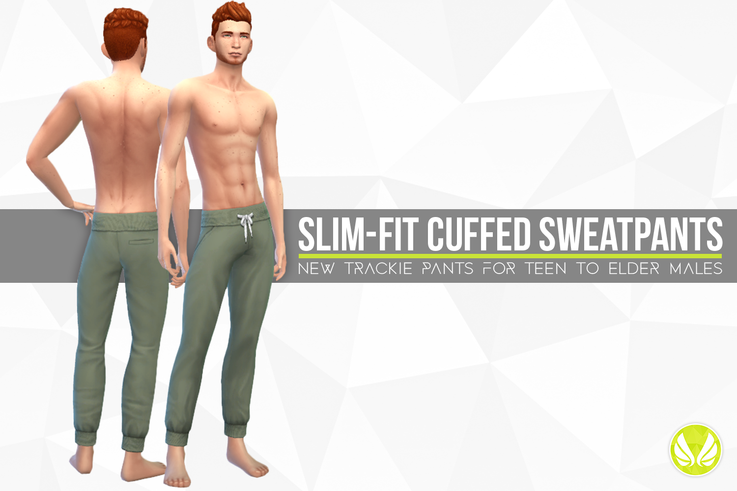 Slim-fit Cuffed Sweatpants by simsationaldesigns