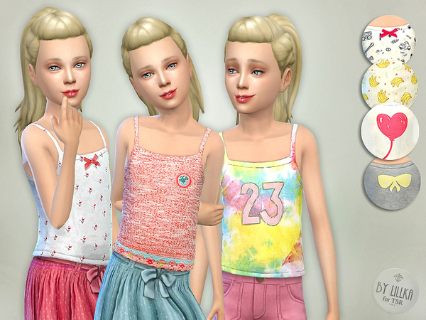 Tank Top Collection for Girls P03 by lillka