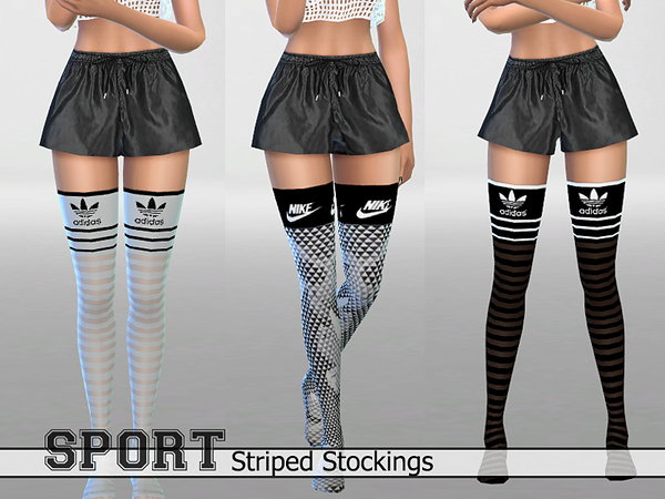 30Athletic Striped Stockings Pack by Pinkzombiecupcakes