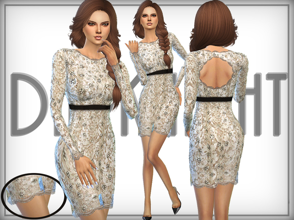 -Embellished- Lace Dress by DarkNighTt