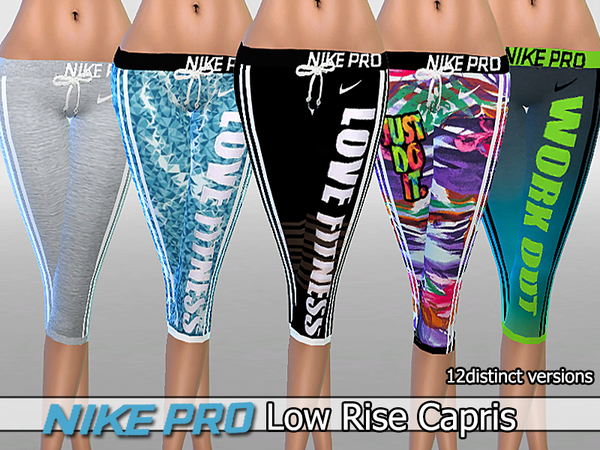 Nike Pro Low Rise Capris Pack by Pinkzombiecupcakes
