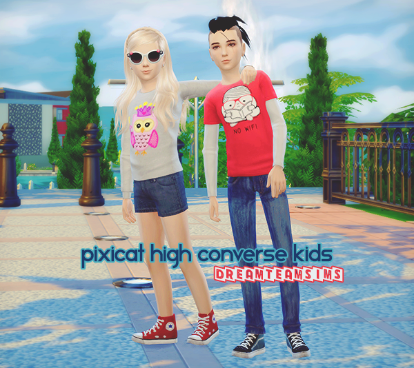 TS3 Pixicat High Converse Conversion for Kids by DreamTeamSims