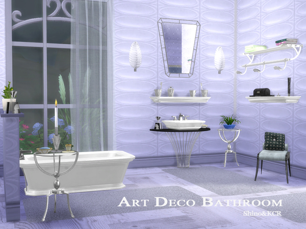 Art Deco Bathroom by ShinoKCR