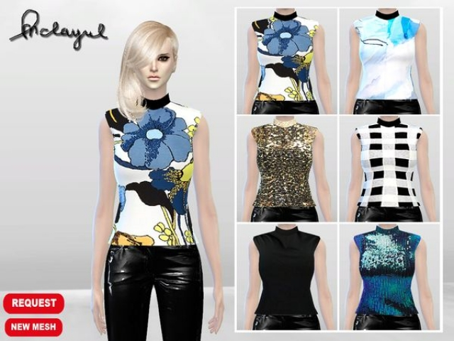 Athena Sleeveless Top (Request) by McLayneSims