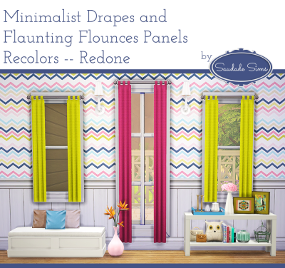 Minimalist Drapes and Flaunting Flounces Panels Recolors by ValhallanSim
