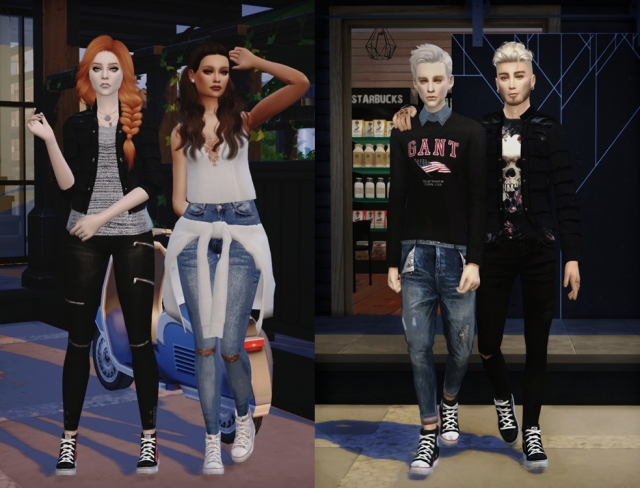 Pixicat High Converse Sneakers for Males and Females by DreamTeamSims