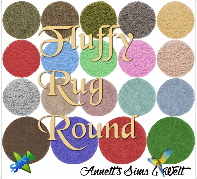 Fluffy Rugs Round by annett85