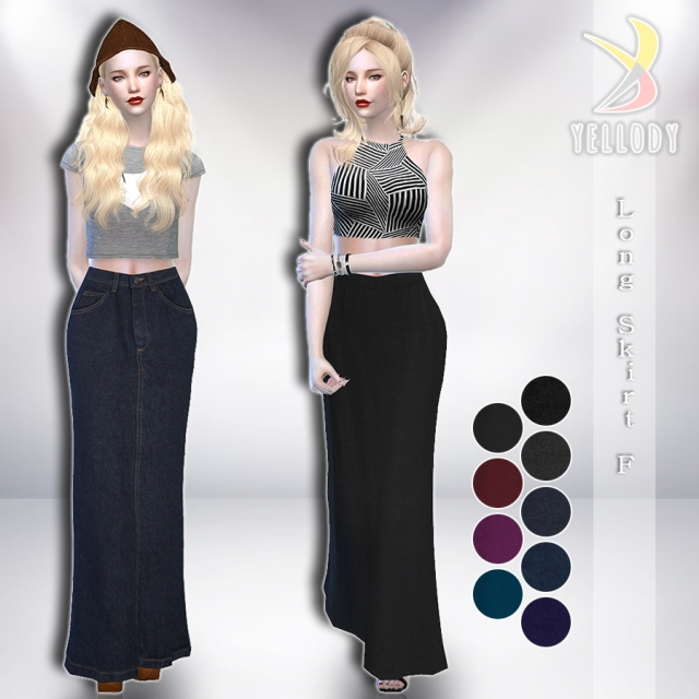 Long Skirt F by Yellody