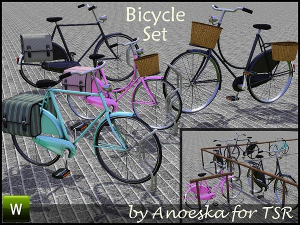 Bicycle Set by AnoeskaB