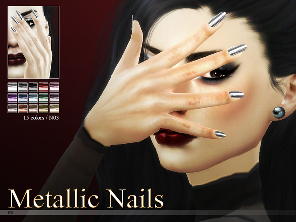 Metallic Nails N03 by Pralinesims