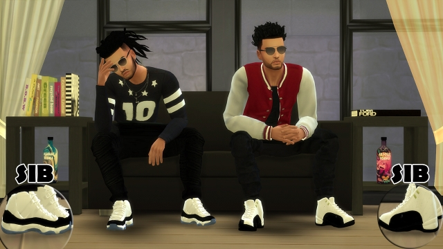 TS3 ChunkySims Male Jordans Conversion by SimsInBlaque