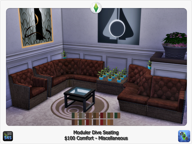 TS3 Modular Dive Seating Conversion by Design4Sims