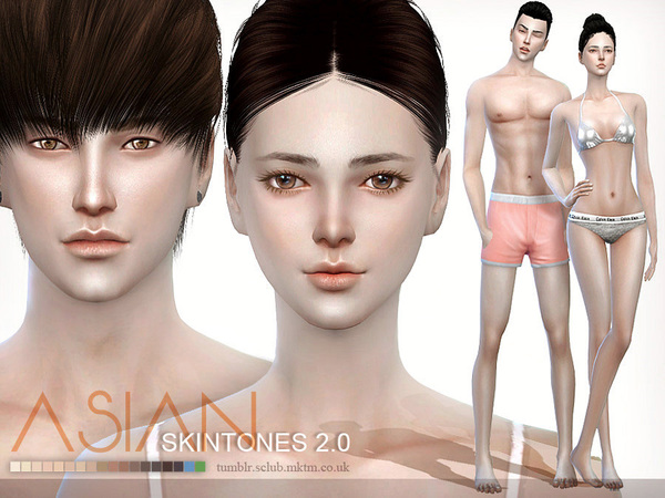 ASIAN skintones2.0 ALL AGE by S-Club