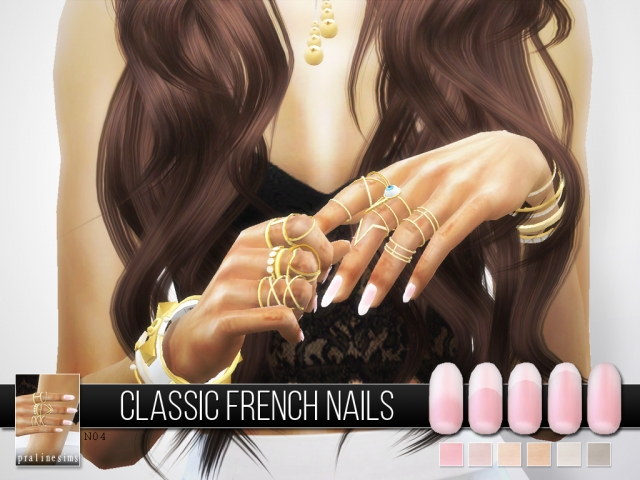 Classic french nails N04 by Pralinesims