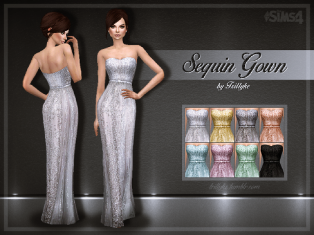 Sequin Gown by trillyke