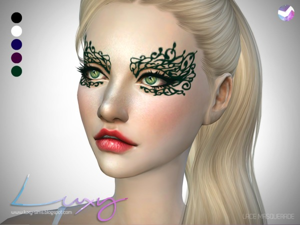 Lace Masquerade by LuxySims3