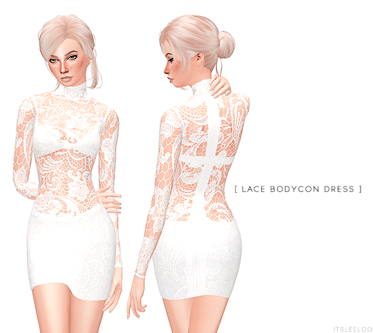Lace Bodycon Dress by ItsLeeloo