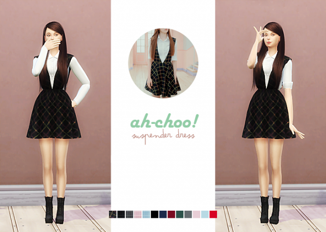 Ah-Choo Suspender Dress by waekey