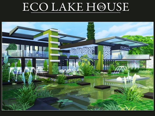 Eco Lake House by Pralinesims