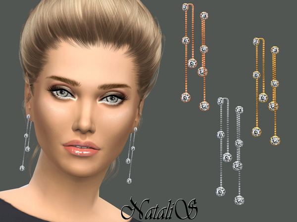 NataliS_Crystal drop lariat earrings