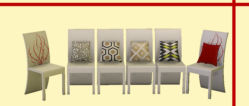 Daer0n  Sims 4 Designs  Furniture, Living room : Chinafansims Red and White Living conversion
