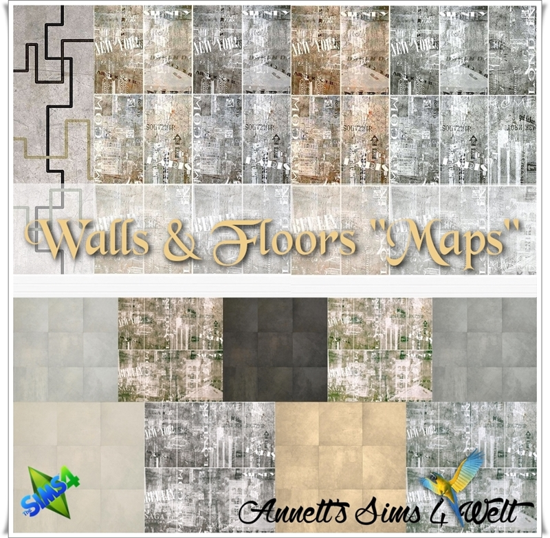 Maps Wallpaper and Floors by Annett85