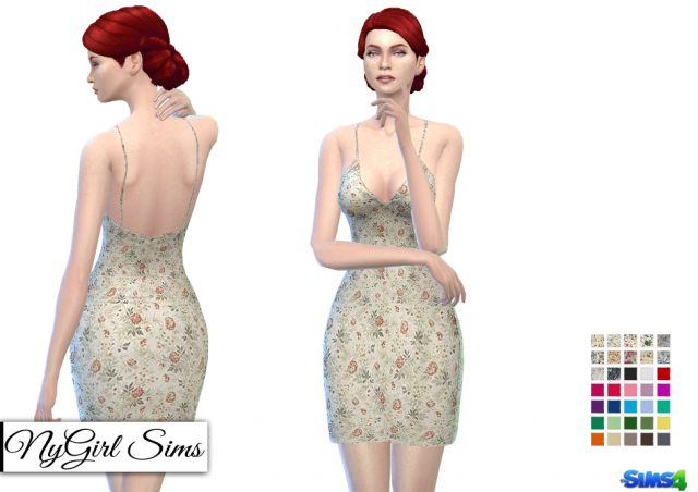 Floral Prints Spring Spaghetti Dress by NyGirl