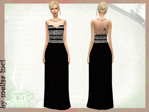 Crystal Embellished Crepe Gown by melisa inci
