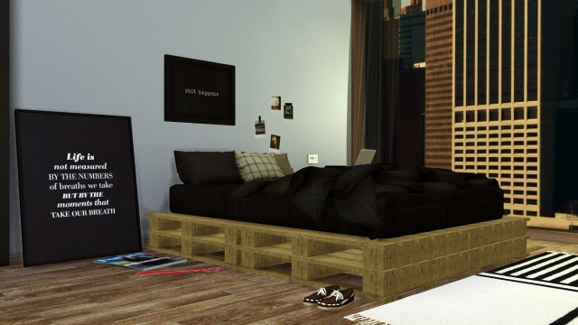 DIY Pallet Bed by Maximss