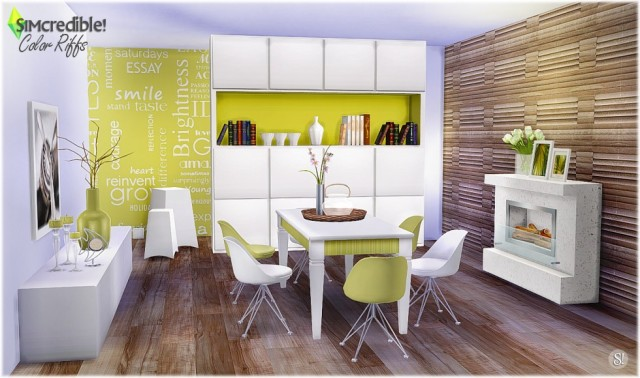 Color Riffs Dining Set by Simcredible