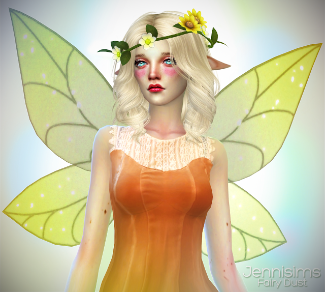 Accessory Fairy Dust (Wings and wreath) Male /Female (5 Swatches) by JenniSims
