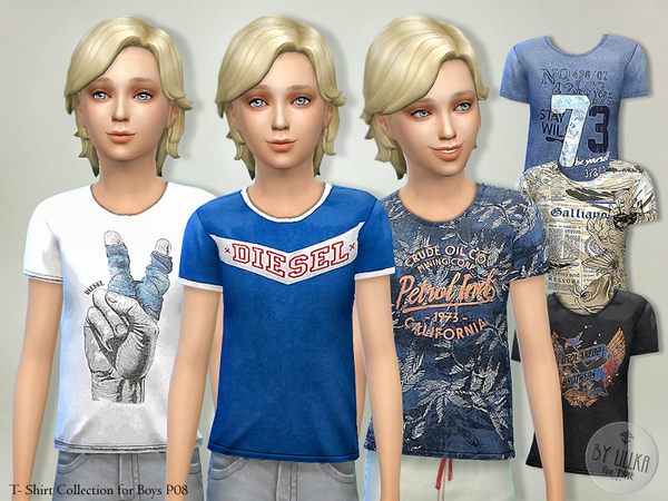 T- Shirt Collection for Boys P08 by lillka