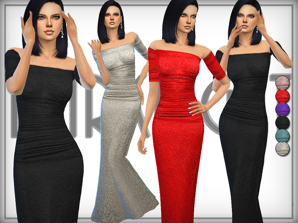 Metallic Stretch-Jersey Gown by DarkNighTt