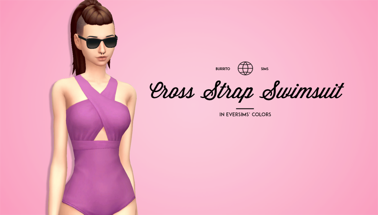 Cross Strap Swimsuit by BurritoSims