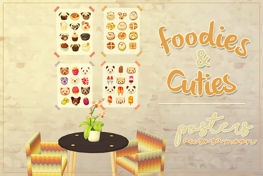 Foodies&Cuties Posters By AuroraMoon