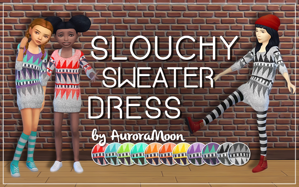 Slouchy Sweater Dress by AURORA MOON