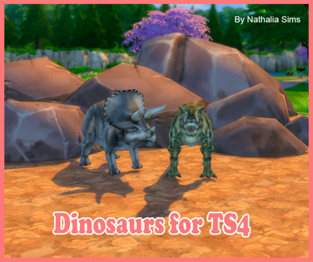 Dinosaurs for TS4 by Nathalia Sims