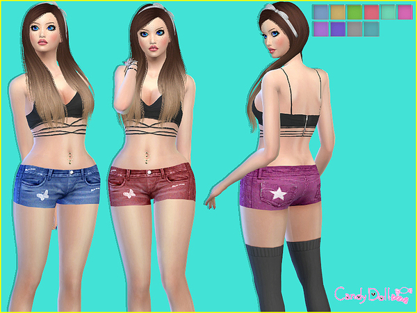 CandyDoll Trendy Shorts by DivaDelic06