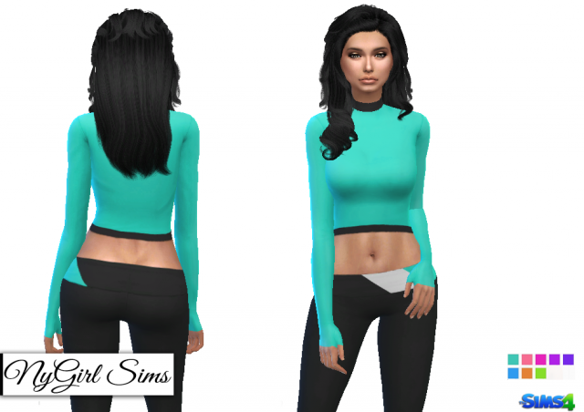 Mock Neck Athletic Top and Coordinating Pant by NyGirl