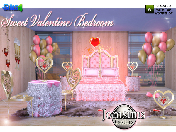 Sweet Valentine Bedroom by jomsims