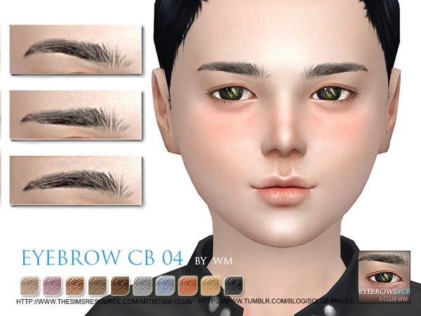 S-Club WM thesims4 Eyebrows04 CB